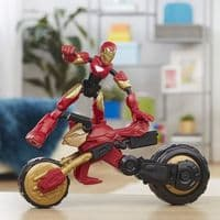 Marvel Bend and Flex - Flex Rider Iron Man 2 in 1 Bendable Action Figure and Bike